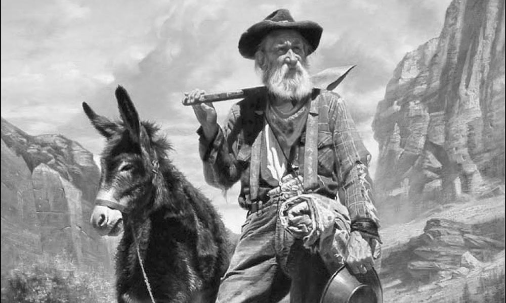 frontier miner with donkey True West