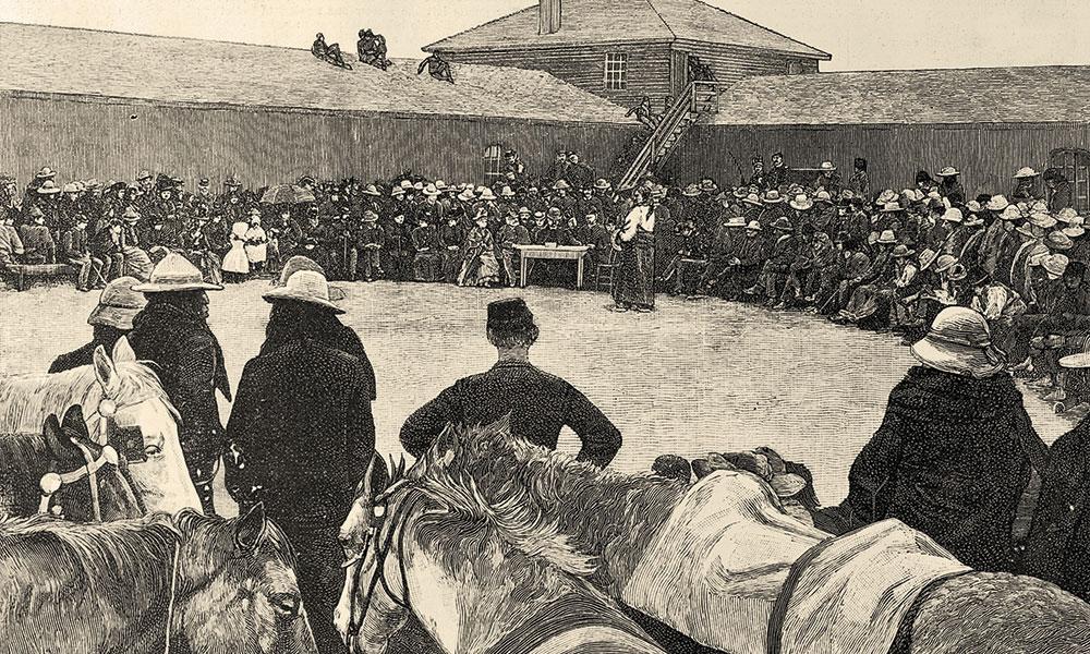 sitting bull s dancing horse true west magazine