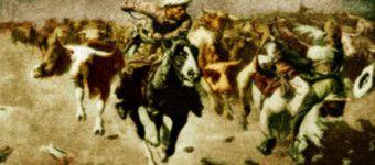 stampede by W.R. Leigh, 1915 True West