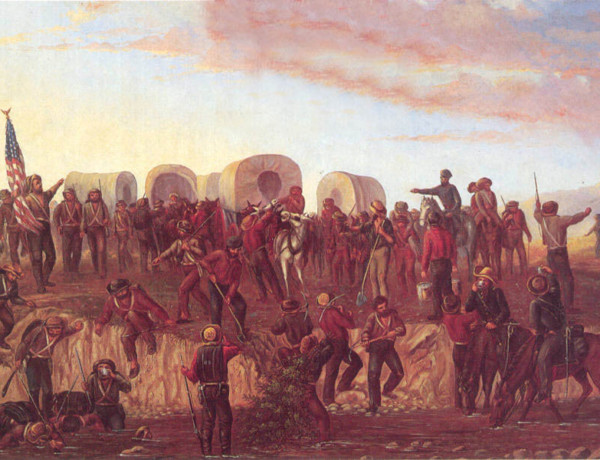 Mormon Battalion Painting by Geo Ottinger