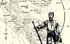 Peg Leg Smith Map of Lost Peg Leg Mine