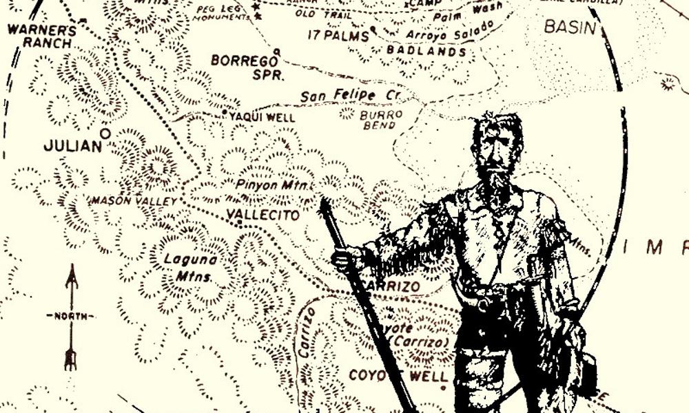 "Tom ""Peg Leg"" Smith map of lost peg leg mine"