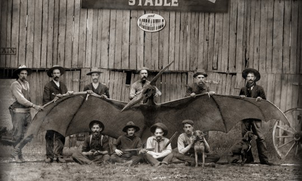 Cowboys with the Tombstone Thunderbird 19th century
