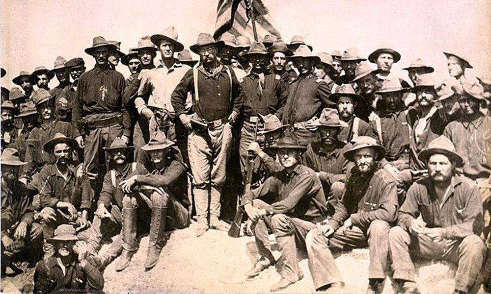 teddy roosevelt with rough riders