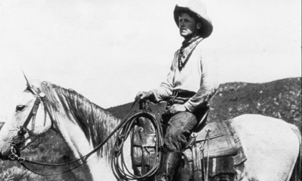cowboy on horse smith photo