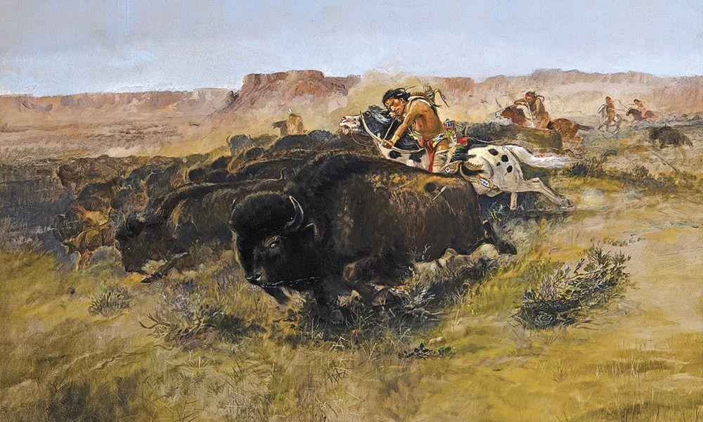Charles M Russell True West Magazine Buffalo Hunt