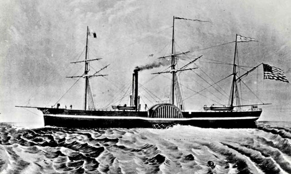ss california ship illustration