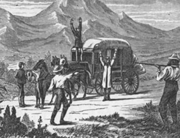illustration stagecoach robbery