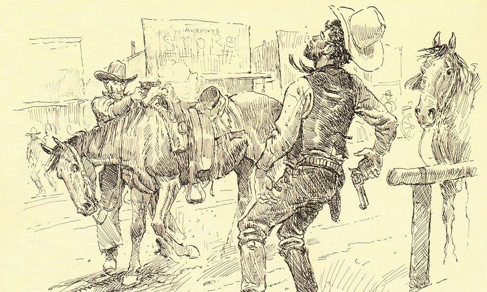 pen ink illustration curly bill jim wallace by joe beeler