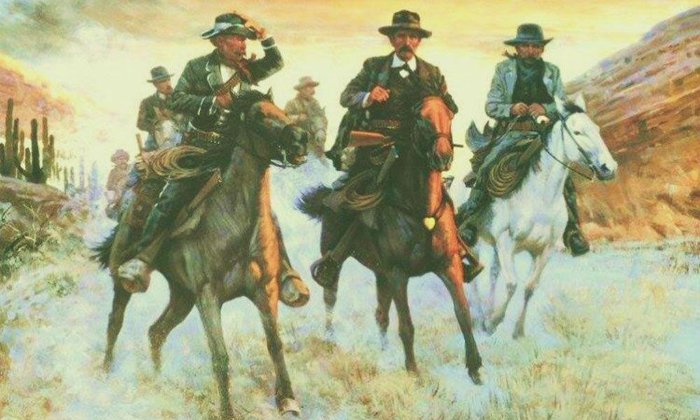 painting earps vendetta cowboys riding by bud bradshaw