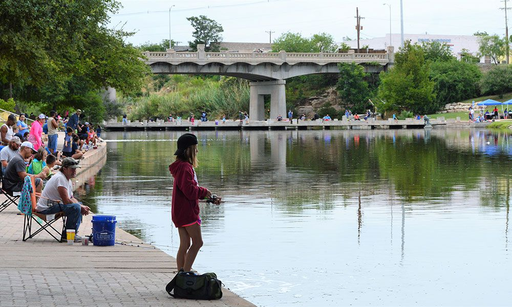 girl fishing concho river san angelo texas
