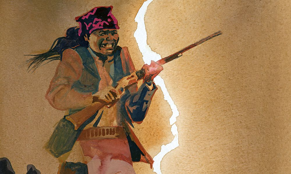 painting of apache by bob boze bell