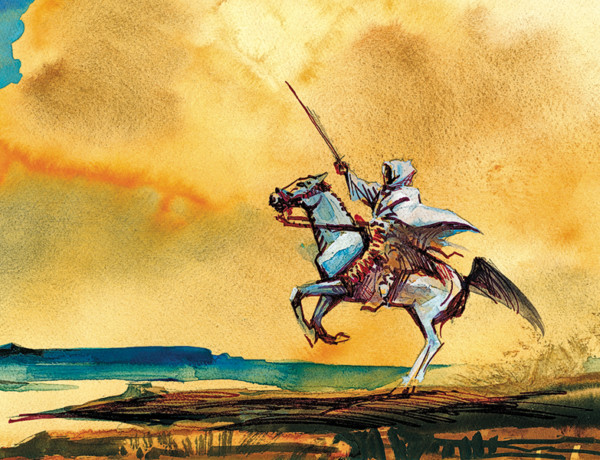 painting of arab warrior by bob boze bell