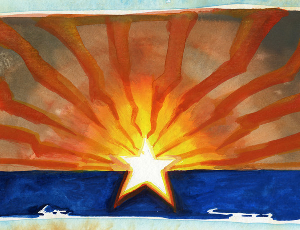 arizona flag painting by bob boze bell