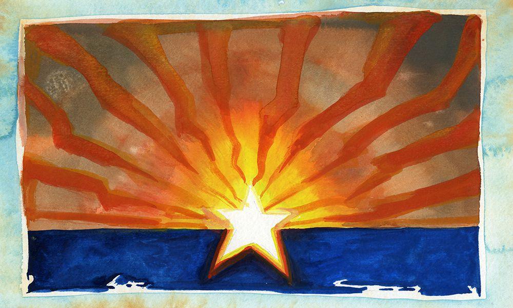 arizona flag painting by bob boze bell