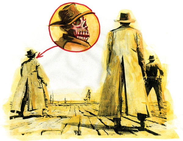once upon a time in the west illustration by bob boze bell