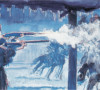 snowstorm ambush painting by bob boze bell