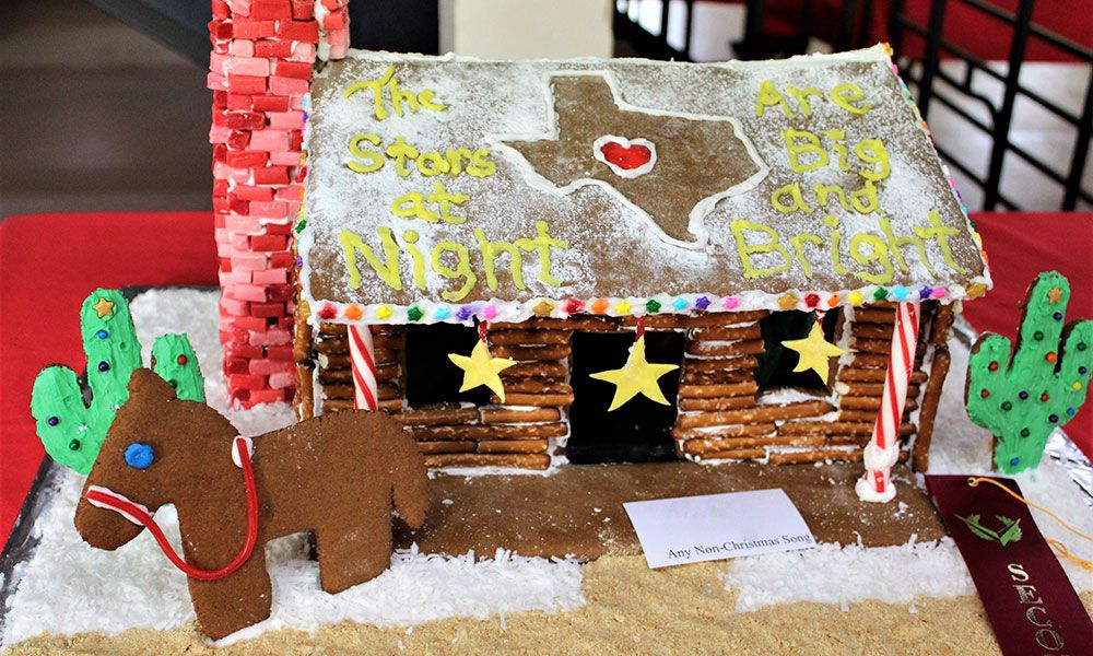 stars at night western gingerbread house christmas old fort concho