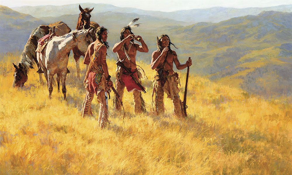 The Thirsty Trapper Western Artwork Auctions True West Magazine
