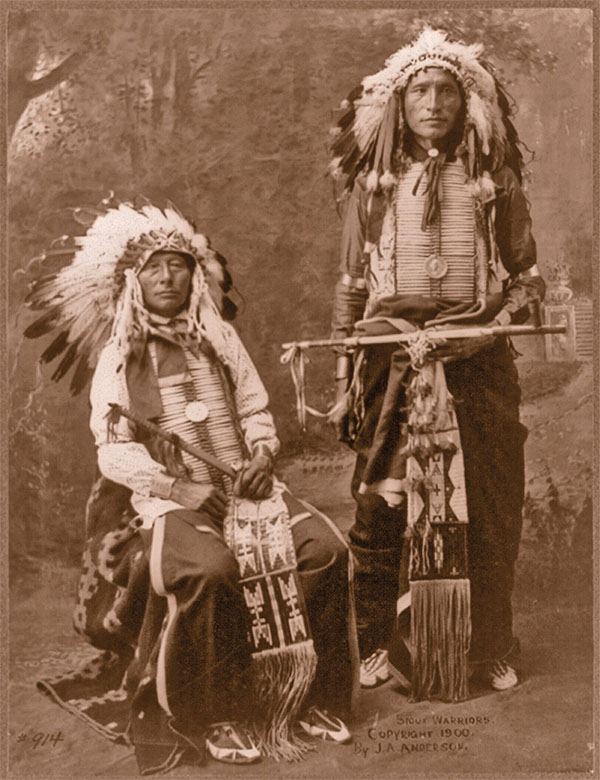 feathered bonnets headdress medals black horn james lone elk sioux warriors true west magazine