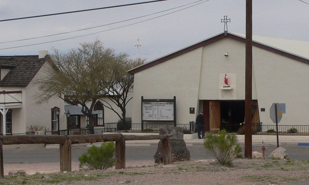 Sacred Heart Church Tombstone Priest Emanuel Schneider True West Magazine