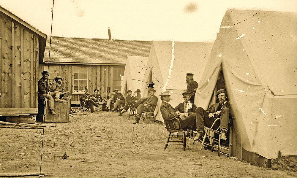laramie historic railroad depot cowboy tents camping true west magazine