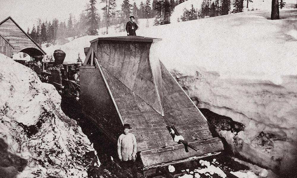 donner pass snow plow central pacific railroad crew sierra nevada true west magazine