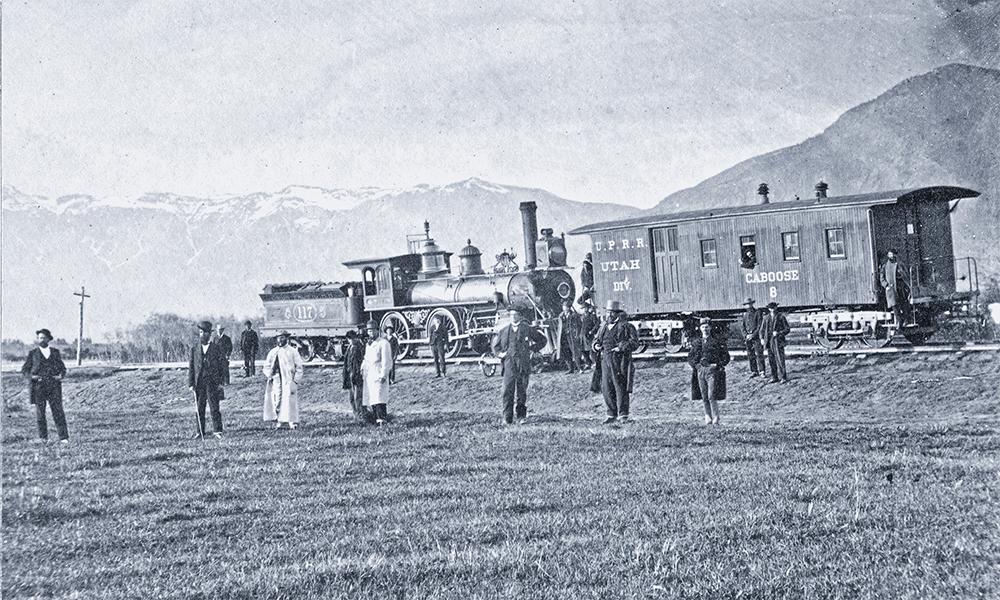 golden spike central pacific railroad utah train true west magazine