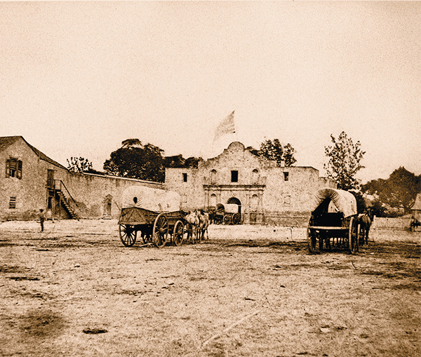 the alamo restored covered wagons historical photograph true west magazine