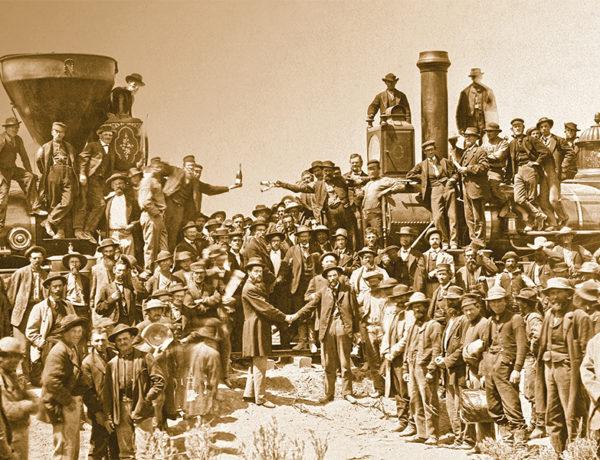transcontinental railroad train union pacific central pacific ceremony true west magazine