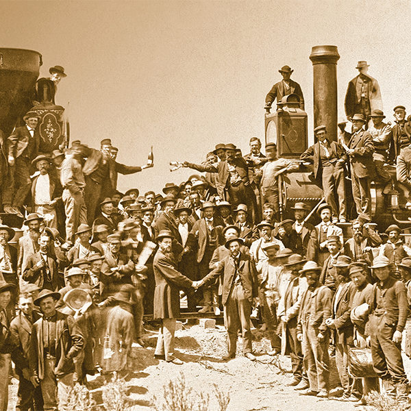 transcontinental railroad train union pacific central pacific ceremony true west magazine