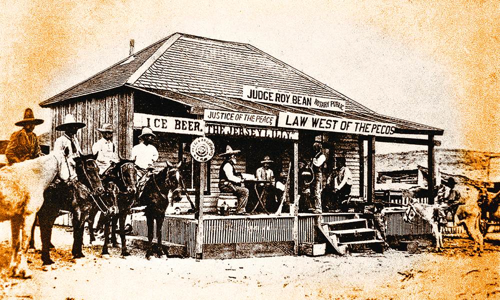 roy bean saloon old west langtry texas true west magazine
