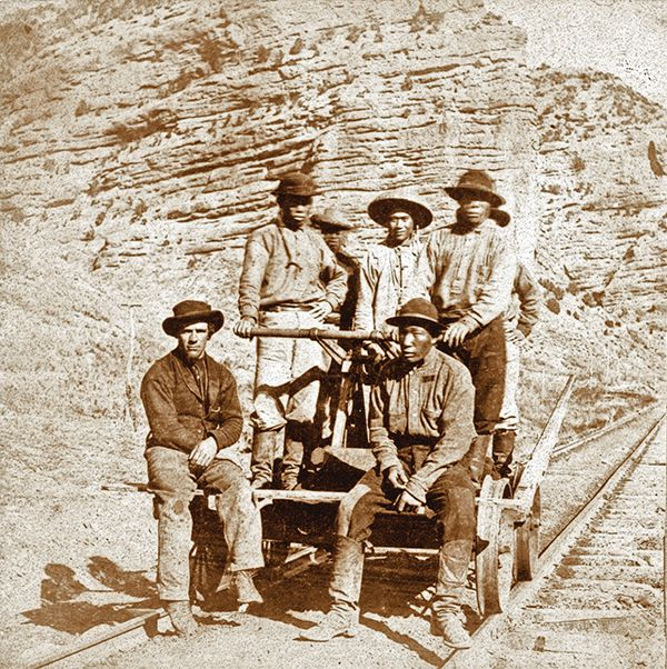 laborers chinese workers central pacific railroad trail true west magazine