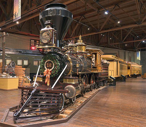gov stanford no 1 locomotive central pacific railroad exhibit california state museum true west magazine