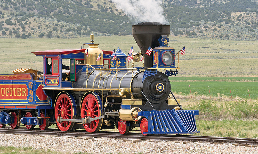 golden spike national historic site promontory utah jupiter locomotive true west magazine