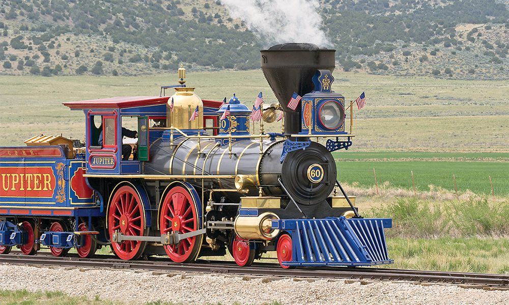 golden spike national historic site promontory utah jupiter locomotive true west magazine