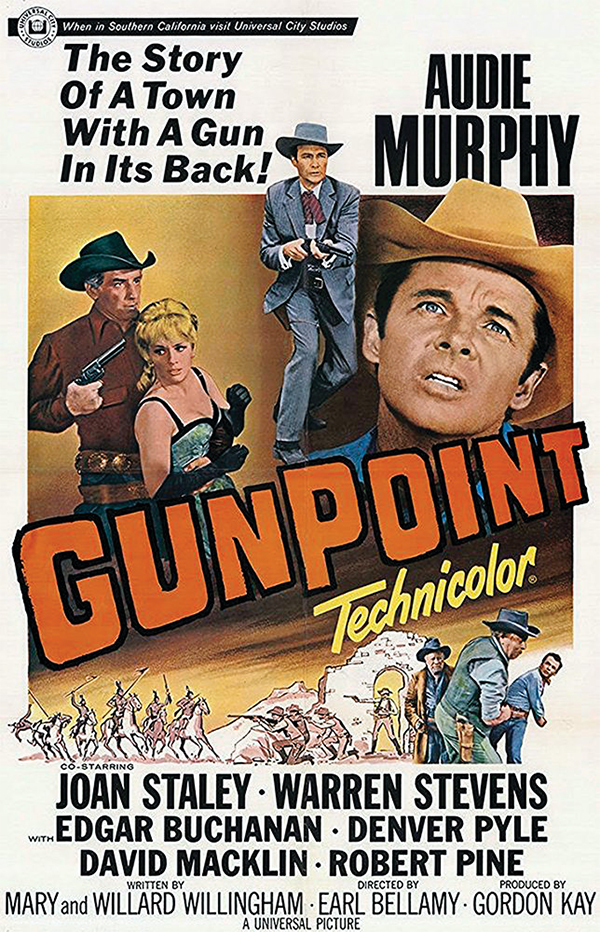 gunpoint moive poster audie murphy cast universal pictures true west magazine