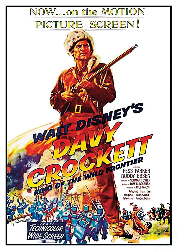 the alamo davy crockett movie poster walt disney true west magazine