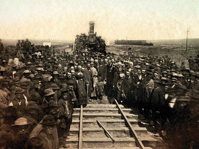 transcontinental railroad history old west railway train true west magazine