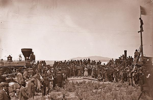 last rail transcontinental railroad train ceremony promontory true west magazine