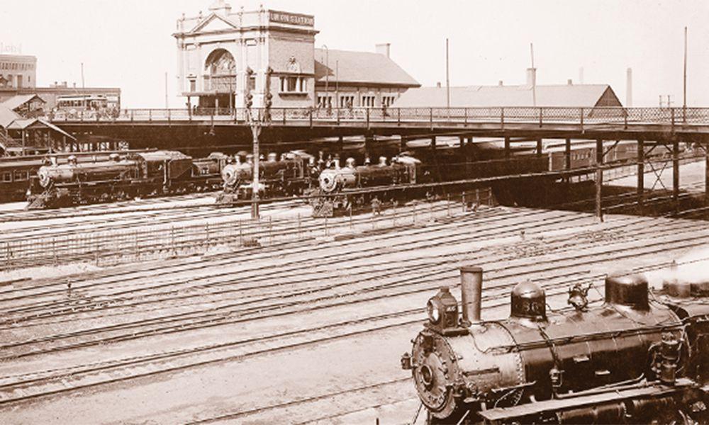 omaha union station burlington train station historical photograph train railroad true west magazine