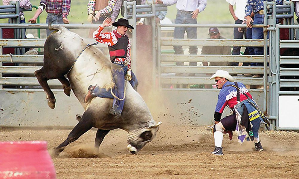 platte river rodeo bull riding saratoga wyoming true west magazine