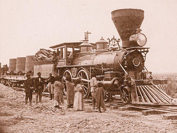 shoshone indians locomotive train transcontinental railroad true west magazine