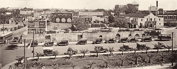 billboards old cars alamo plaza historic district true west magazine
