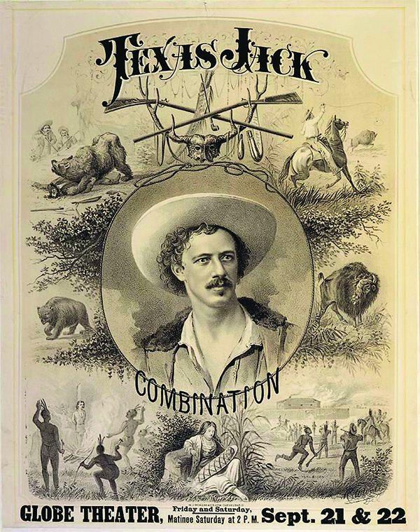 texas jack omohundro globe theater poster play western true west magazine