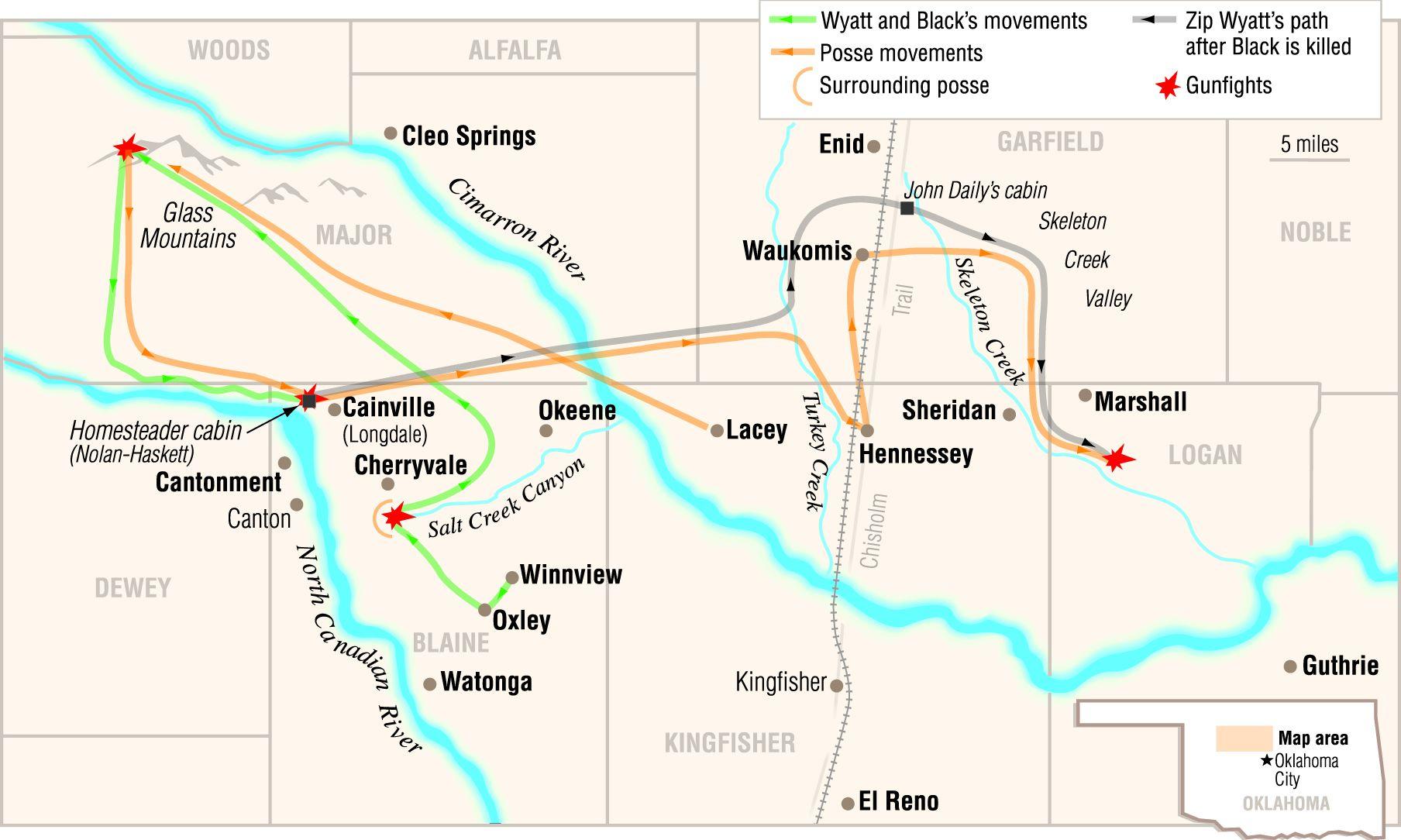 zipp wyatt map of oklahoma true west magazine