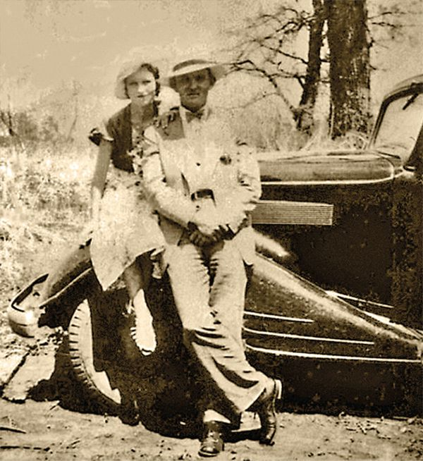 bonnie and clyde with car true west magazine