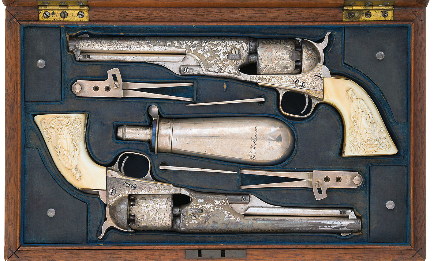 tiffany silver gun set william mathewson true west magazine