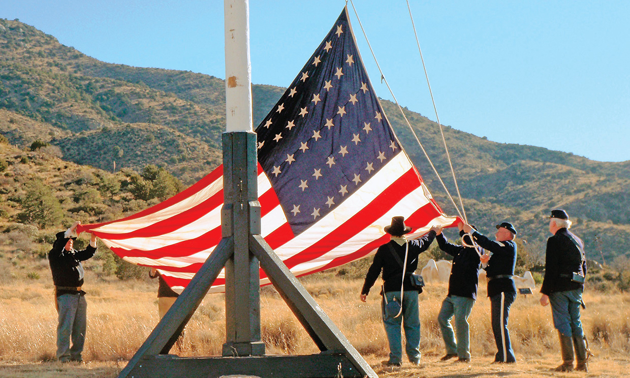 flag lowering fort bowie national historic site arizona true west magazine