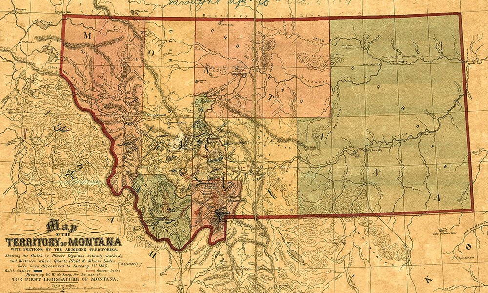 map of montana historic true west magazine